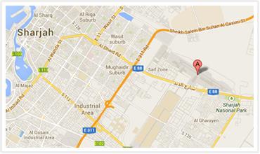 Sharjah Airport Map