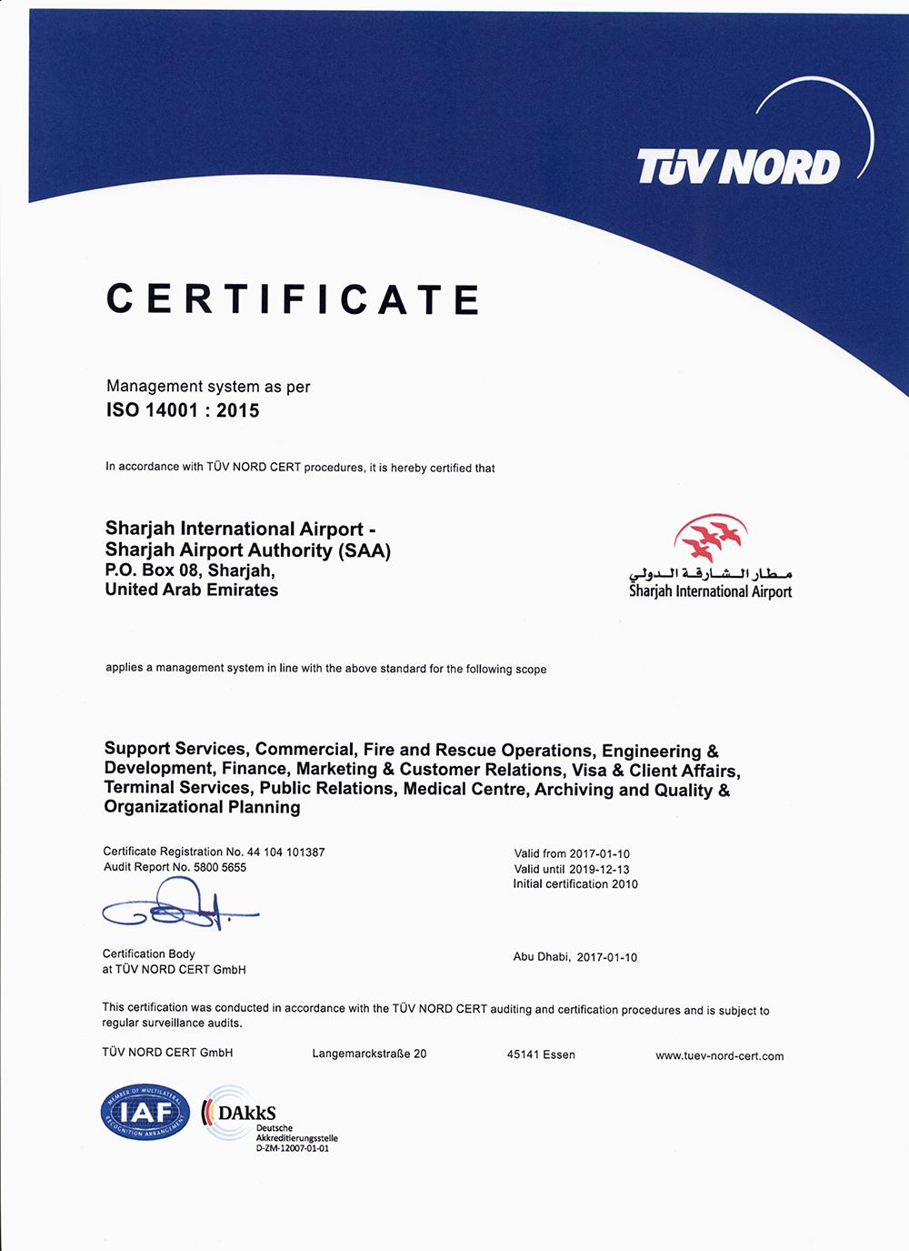 certificate-DCA-EMS