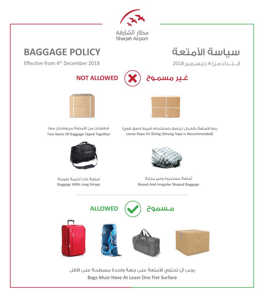 Baggage Policy | Sharjah Airport