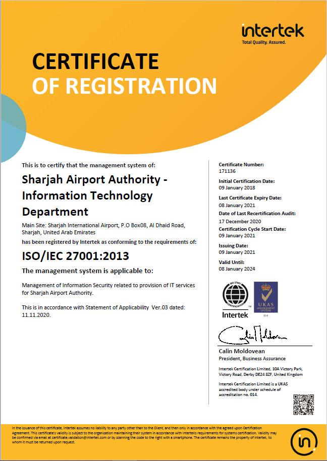 SAA IT Security Certificate